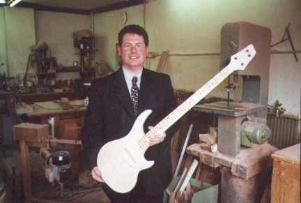 Stuart Murray in the workshop