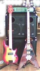 Long Scale Griffin and Flying V Bass